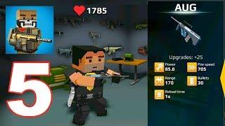 Pixel Grand Battle 3D - Gameplay Walkthrough Part 5 - AUG Gun Review (Android Games Top) screenshot 4