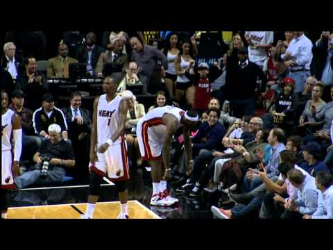 LeBron James Kisses a Fan in the Front Row!