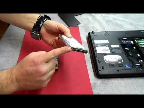 Replacing A Hard Drive On A Toshiba Satellite P775D Laptop