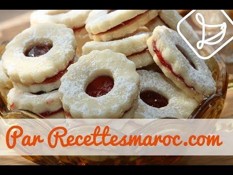 biscuits sablés à la confiture - shortbread biscuits with jam