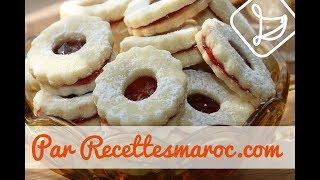 Biscuits Sablés à la Confiture - Shortbread Biscuits with Jam -حلوى الصابلي بمربى