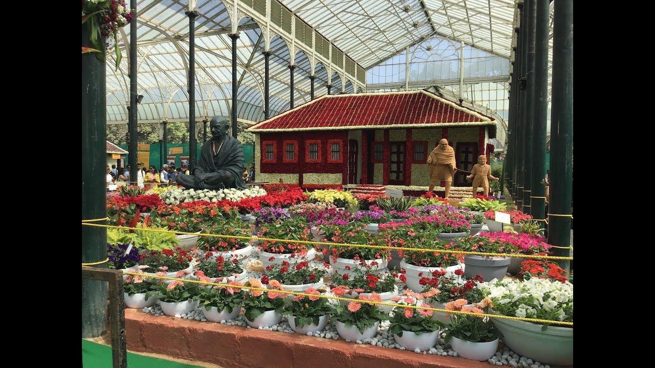 7c5f90ad31fd Bangalore Lalbagh Flower Show 2019 Mahatma Gandhiji - YouTube