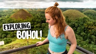 EPIC Tour of BOHOL ISLAND! Chocolate Hills, Pangas Waterfall and Mahogany Forest! (Philippines)