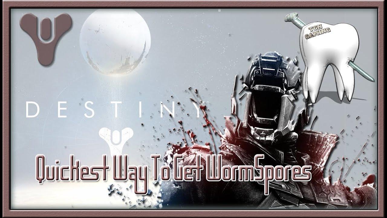 how to get wormspore destiny