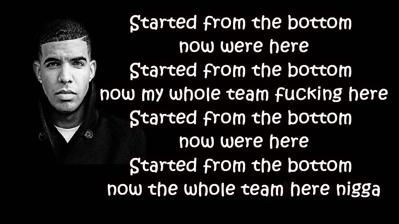 Drake Song Quotes Drake  Started From The Bottom Lyrics Hd  Youtube