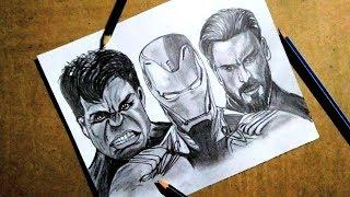 infinity war avengers drawing easy simple marvel draw avenger hero