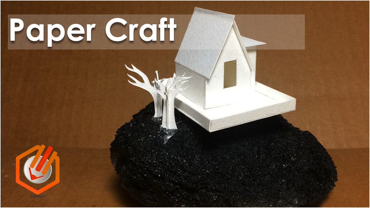 how to make paper craft buildings DIY