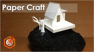 how to make paper craft buildings DIY.