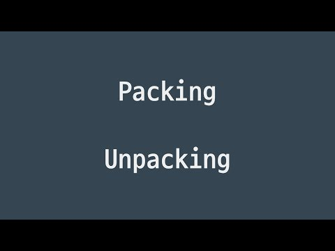 #25 패킹, 언패킹 | 파이썬 강좌 코딩 기초 강의 Python | 김왼손의 왼손코딩