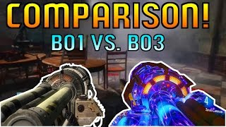BO1 vs. BO3 ThunderGun Comparison! (Black Ops 3 Zombies Weapon Comparison)