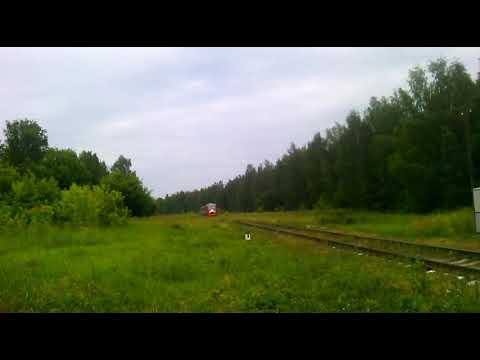 Пассажирский поезд ра2 083 через перезд перегон Нижний-Новгород-Московский-Металлист.
