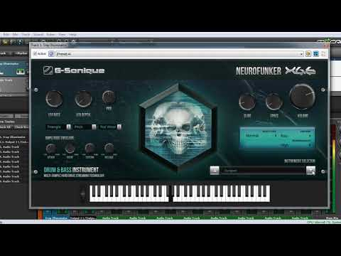 Neurofunker - Solo fast overview, Drum & Bass AU / VST plug-in instrument / synth for Win & Mac