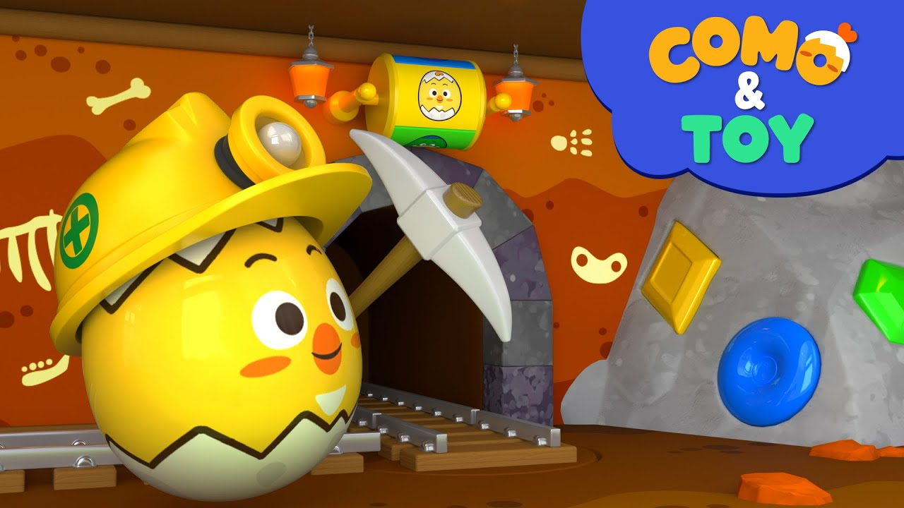 Como | Mining play | Learn colors and words | Cartoon video for kids | Como Kids TV