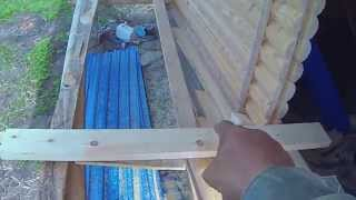 Дверной проём для металлической двери деревянного дома(Это видео создано с помощью видеоредактора YouTube (http://www.youtube.com/editor), 2015-05-14T17:43:24.000Z)