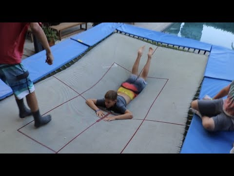 GAME OF TRAMP ON BACKYARD OLYMPIC TRAMPOLINE - YouTube