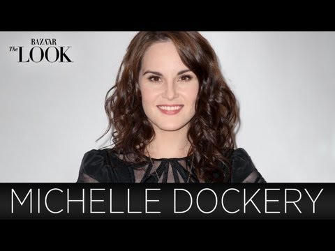 Downton Abbey's Michelle Dockery Talks Fashion  Harper's Bazaar The LOOK