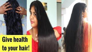 வறண்ட முடியா உங்களுக்கு? இது செய்யுங்கள்!! GIVE FOOD FOR YOUR HAIR!silky hair in 1 wash/bindigirl