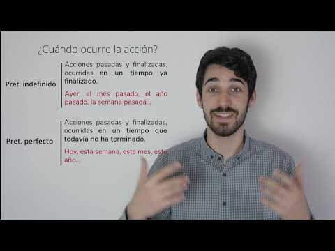 Pretérito perfecto VS Pretérito indefinido - Diferencias de uso y ejemplos