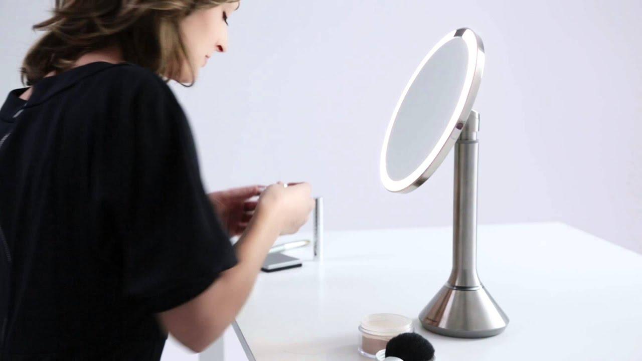 Simplehuman 5X Sensor Vanity Mirror At Bed Bath & Beyond - YouTube