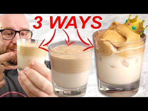 I Made TikTok's WHIPPED COFFEE 3 different ways (using regular coffee)