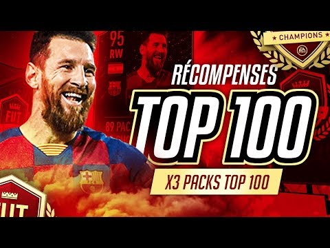 RECOMPENSES FUTCHAMPIONS #6 - 3 PACKS TOP100 POUR LIONEL MESSI 95 !!!