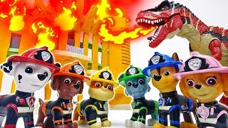 Paw Patrol Fire Pups Are Firefighters Of The Town~! #ToyMartTV