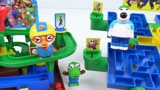 슈퍼마리오 익사이팅 어드벤쳐 게임 주니어 + 미로 대탐험 주니어 대결! 오늘의 벌칙은요? ❤ 뽀로로 장난감 애니 ❤ Pororo Toy Video | 토이컴 Toycom