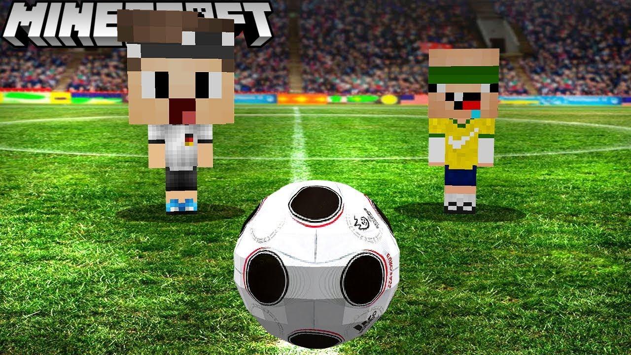 DANIEL UND ICH SPIELEN FUßBALL IN MINECRAFT YouTube - Minecraft fubball spielen deutsch