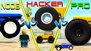 NOOB vs PRO vs HACKER crashes #12 - Beamng drive (cars crashes)