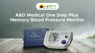 A&D Medical One Step Plus Memory Blood Pressure Monitor
