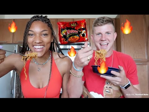 EXTREME SPICY NOODLE CHALLENGE *painful* *cash bet*