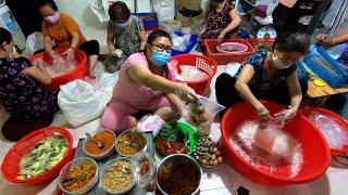 Xưởng làm bánh tráng trộn Thùy Vân độc quyền bằng máy, siêu sạch phần 25k bự chảng ăn ngon ná thở