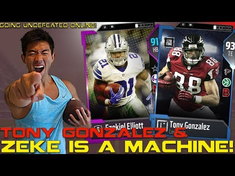 TONY GONZALEZ & PURPLE EZEKIEL ELLIOT ARE MACHINES! Madden 18 Ultimate Team
