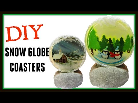 Snow Globe Coasters   DIY Project   Christmas Projects   Another Coaster Friday   Craft Klatch