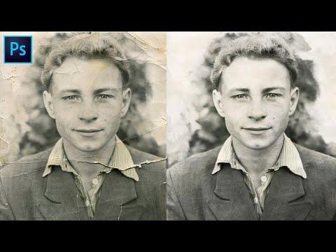 Как восстановить старое фото в фотошоп. Реставрация старой фотографии в Photoshop