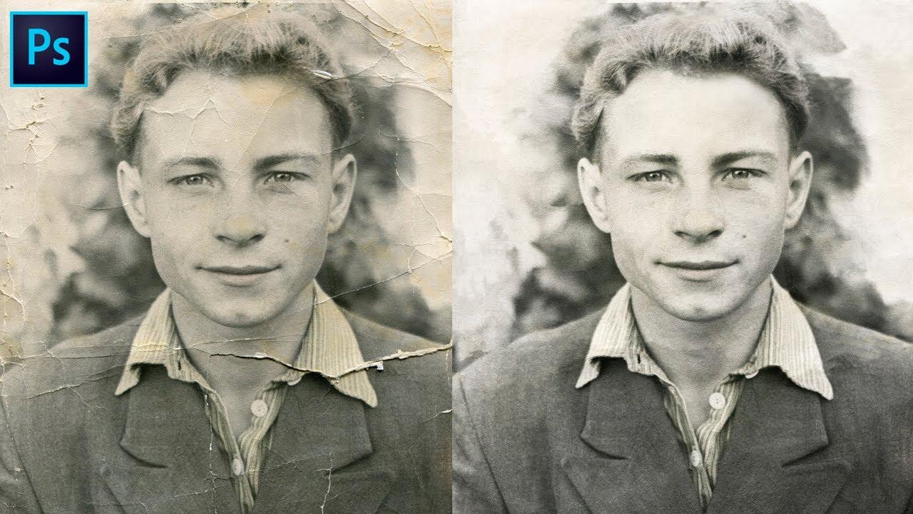 Как восстановить старое фото в фотошоп. Реставрация старой ...
