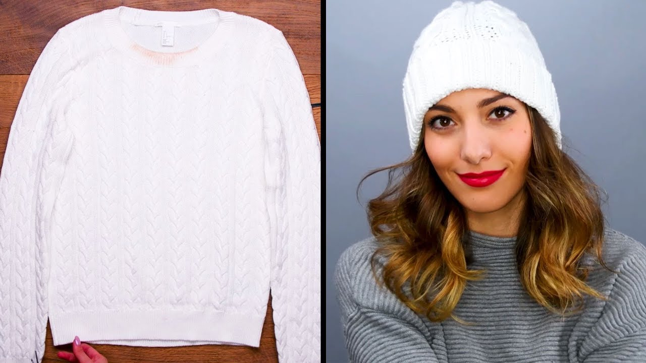Winter Hacks Re Purpose Your Old Sweaters Sweater Hacks And More