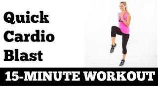 15Minute Quick At Home Fat Burning Cardio Blast  No Equipment Needed