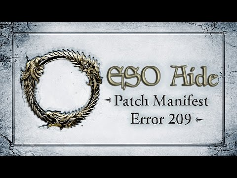 eso unable to  patch manifest