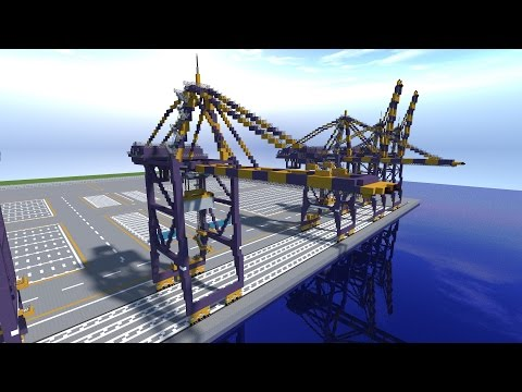 Minecraft Port Cargo Container Gantry Crane Tutorial