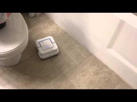 iRobot Braava Jet cleaning bathroom (corner behavior)