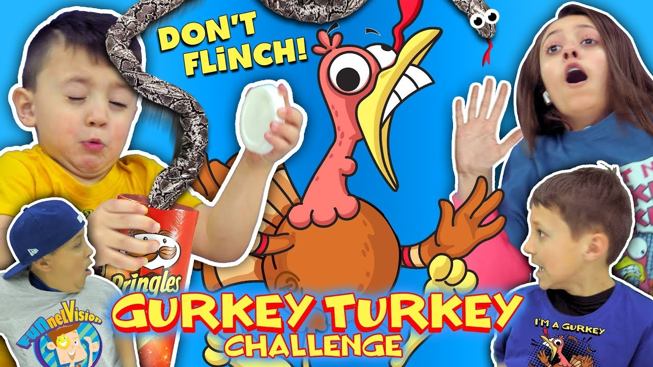 GURKEY TURKEY CHALLENGE (Try Not To Flinch) FUNnel Family Compilation