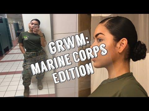 """Military Style Bun & """"No Makeup"""" Makeup"""