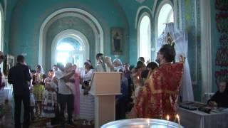 Первое крещение в Никольском храме в Новой Ханинеевке  27 07 2014(Это был один из тех дней, который непременно войдет в историю церкви Николая Чудотворца. 27 июля 2014 года прош..., 2014-08-16T01:06:54.000Z)