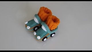 How to Knit - Baby Car Booties