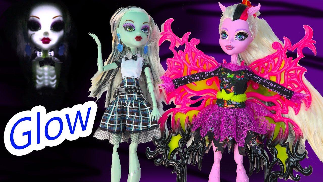 Monster High Light Up Spark Glowing Skeleton Frankie Stein Doll Freaky Fusion Bonita Femur