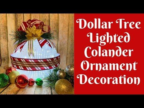 Dollar Tree Christmas Crafts: Dollar Tree Colander/ Dollar Tree Strainer Christmas Decoration