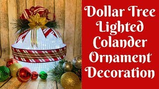Dollar Tree Christmas Crafts: Dollar Tree Colander/ Dollar Tree Strainer Christmas Decoration