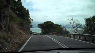Driving North on Coastal  Road from Cairns To Port Arthur Australia
