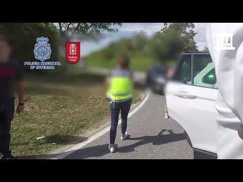 [VÍDEO] Momento de la intervención en Navarra del mayor alijo de speed localizado hasta la fecha en España